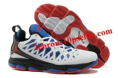 e164583ebaba04 VIX Chris Paul Shoes White Black Blue Air Jordan Shoes