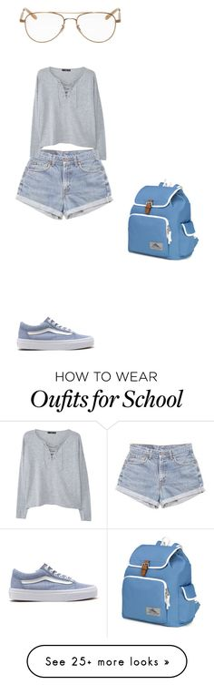 """""""Untitled #631"""" by same-old-bobby on Polyvore featuring Vans, Levi's, MANGO, Garrett Leight and High Sierra"""