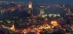 Panorama of Cairo from the Cairo_Tower. by Ayman Anwar, via Behance