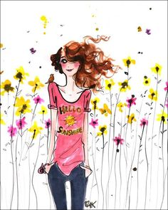 Teenage Girl Wall Art Under $ 50 | Hello Sunshine - available as Canvas Wall Art & Wall Decals starting at $20