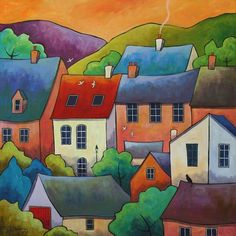 UK ~ Village Dawn ~ Gillian Mowbray