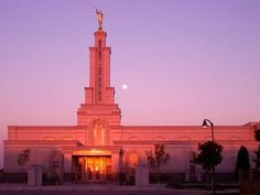 Click to download this wallpaper image of the Lubbock Texas Mormon Temple