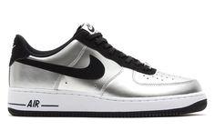 """Nike Air Force 1 Low """"Metallic Silver & Black"""" - EU Kicks: Sneaker Magazine"""