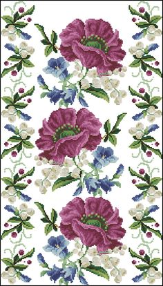This Pin was discovered by pan Cross Stitch Rose, Cross Stitch Borders, Cross Stitch Flowers, Cross Stitching, Cross Stitch Embroidery, Embroidery Patterns, Cross Stitch Patterns, Vintage Cross Stitches, Beaded Cross