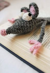 crochet rat bookmark Crochet, Chrochet, Crocheting, Knits, Hand Crochet