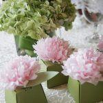 Cajas de carton con flores para baby shower