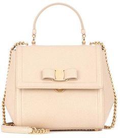 d93c49b4fd57 Salvatore Ferragamo Carrie leather shoulder bag Beige Purses