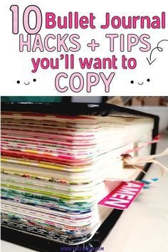 These bullet journal ideas are THE BEST! I'm so happy I found these GREAT bullet journal tips! Now I have some great bullet journal hacks that I can use! organization tips 10 Bullet Journal Hacks You'll Want To Steal - Bullet Journal Inspo, Bullet Journal Wishlist, Minimalist Bullet Journal, How To Bullet Journal, Bullet Journal Writing, Bullet Journal Spread, Bullet Journal Ideas Pages, Journal Pages, Best Bullet Journal Notebooks