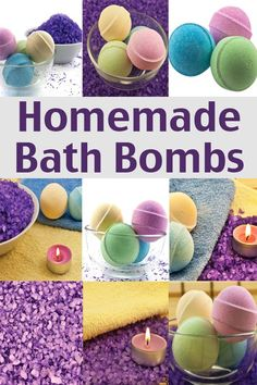 Homemade Bath Bombs Recipe from Living on a Dime | DiY bath goodies for a gift or just to treat yourself.