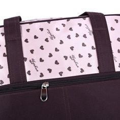 Insular Multifunctional Waterproof Heart Printed Baby Diaper Bag Mummy Handbag