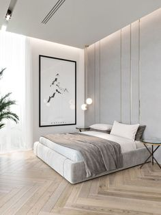 59 best minimalist bedroom design you must see 42 Interior Design Modern Bedroom Design, Home Interior Design, Bedroom Design Minimalist, Contemporary Bedroom Decor, Modern Apartment Design, Modern Master Bedroom, Minimalist Room, Simple Interior, Minimalist Home Interior