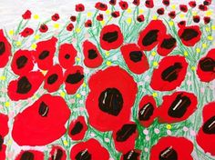 Poppies in perspective. Grade 2