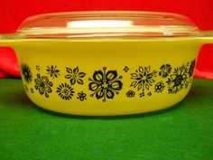 RARE Promotional Pyrex Pressed Flowers Oval Cinderella Casserole 1957 Year Made | eBay