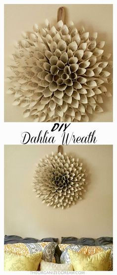 This DIY Dahlia Wreath was so much fun to make!