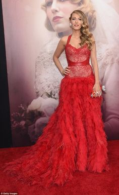 Lone beauty: Blake Lively attended the premiere of her new movie, The Age Of Adaline, with...