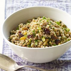 Farro Salad with Winter Fruit, Pistachios, and Ginger