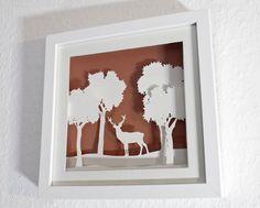 Framed paper diorama