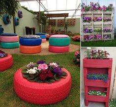 15 Creative Recycled Planter Ideas for Your Garden - http://www.amazinginteriordesign.com/15-creative-recycled-planter-ideas-garden/