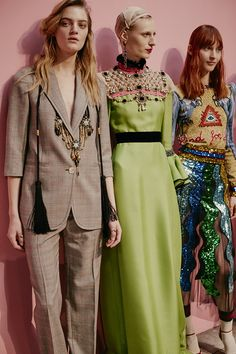 Backstage at the Gucci Women's Fall Winter 2016 2017 Show