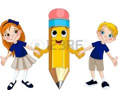 Buy Students and pencil by Dazdraperma on GraphicRiver. Little girl and boy holding hands of a giant pencil Drawing School, School Painting, Art Drawings For Kids, Drawing For Kids, Cartoon Girl Drawing, Girl Cartoon, Boy Cartoon Characters, Math Wallpaper, Giant Pencil