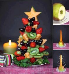 Too much sugar this time of year- great idea for something festive and healthy