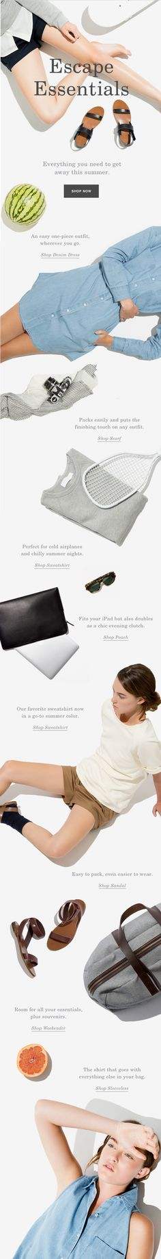 Everlane Escape Essentials