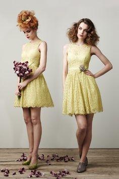 yellow, dress, fashion, bridesmaid, spring