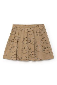 Bobo Choses Clouds Skater Skirt