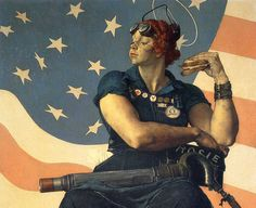 Norman Rockwell - Painted for the cover of the May 29, 1943 edition of The Saturday Evening Post.   http://www.normanrockwellvt.com/rosie_riveter_story.htm