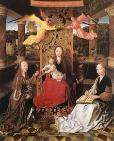 Madonna & Child with Saints, Hugo van der Goes, second half 15th century