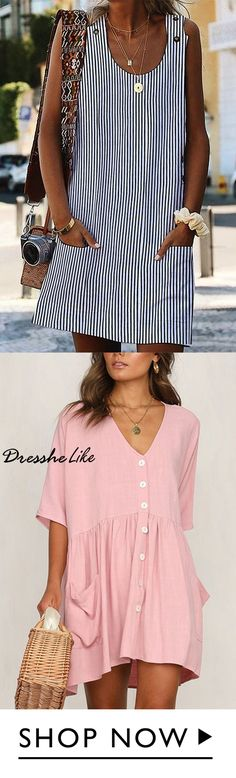Casual Vacation Shift Dress must-have Designer Blouse Patterns, Blouse Designs, Image Mode, Casual Dresses, Fashion Dresses, Chic Dress, Mode Inspiration, Sewing Clothes, Refashion