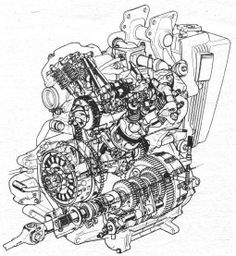 Honda CX 500 engine cut away illustration Street Motorcycles, Custom Street Bikes, Honda Motorcycles, Vintage Motorcycles, Custom Motorcycles, Honda Motorbikes, Honda Cx500, Cafe Racer Parts, Cafe Racer Build