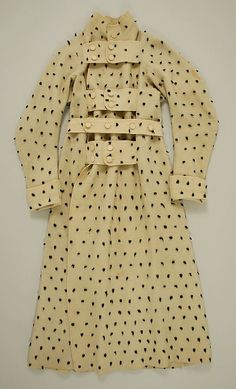 Mens' overcoat in faux-ermine flannel. England 1815
