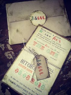DIY Wedding Invitation Hipster Wedding Invitations. $3.00, via Etsy.