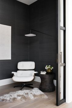 Mountainside Retreat: The Office, Mudroom, & Powder Room White Eames Chair, Industrial Hanging Lights, California Cool, Studio Mcgee, Outdoor Sconces, Interior Decorating, Interior Design, Guest Suite, Indoor Outdoor Rugs