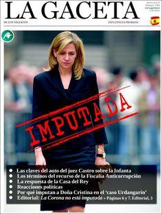 Los Titulares y Portadas de Noticias Destacadas Españolas del 4 de Abril de 2013 del Diario La Gaceta ¿Que le parecio esta Portada de este Diario Español?
