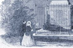 From an illustration of the grave of John Wesley. Image from a documentary video.