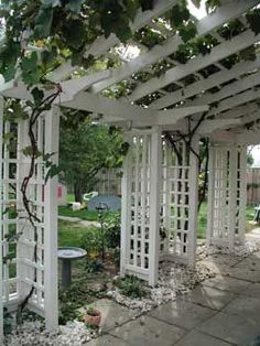 pergola with paneled posts - attach an imaginative pergola with