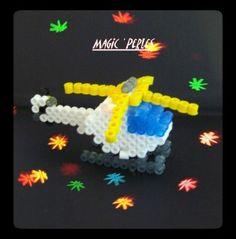 sandylandya@outlook.es  3D Helicopter hama perler by Alice Tobbi