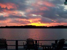 Sunset at Bay View Inn on Lake Minocqua