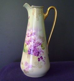 Violet Clusters Tea Pot by Pickard artist Nessy
