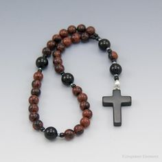 Obsidian Anglican Prayer Beads by Unspoken Elements