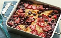A berry-packed breakfast crowd pleaser that's made with gluten-free bread, sweetened with maple syrup and scented with nutmeg.