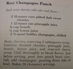 Rosy Champagne Punch