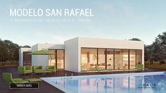Vivienda modular modelo San Rafael de casas inHAUS Minimalist House Design, Minimalist Home, Modern House Design, Home Design Plans, Plan Design, Style At Home, Mechanical Room, New Builds, Ground Floor