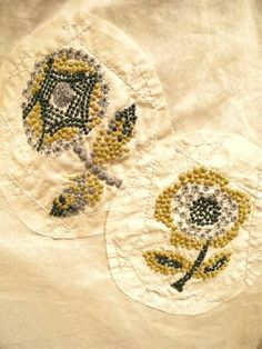Mina Perhonen  lovely colour levels and stitches #embroidery