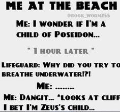 Percy Jackson Jokes & Headcanons - Me at the Beach - - Percy Jackson Head Canon, Percy Jackson Quotes, Percy Jackson Fan Art, Percy Jackson Books, Percy Jackson Fandom, Rick Riordan Series, Rick Riordan Books, Magnus Chase, Percabeth