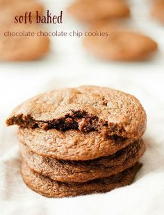 Soft Baked Chocolate Chocolate Chip Cookies