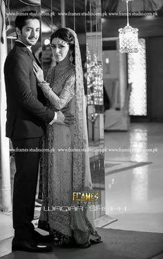 Danish & Ayeza on their valima night Bridal And Groom Pics, Ayeza Khan Wedding, Celebs, Celebrities, Bridal Style, Couples, Studio, Danish, Photography