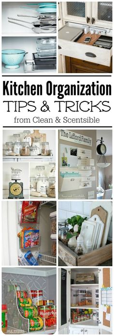 Easy kitchen organization ideas. These are awesome and so do-able!
